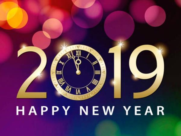 Happy New Year!  We look forward to seeing you in 2019!